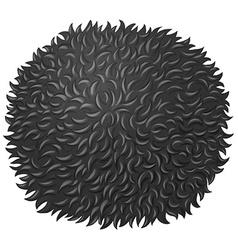 Black fluffy ball on white vector