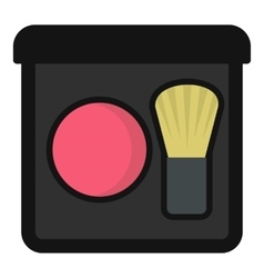 Blush icon flat style vector