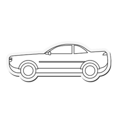 Car automobile transport design vector