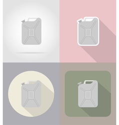 car equipment flat icons 10 vector image