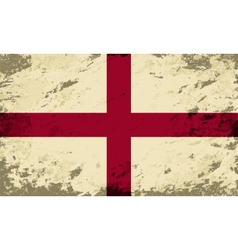 English flag Grunge background vector image vector image
