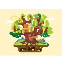 Fabulous tree house vector