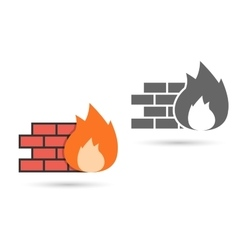 Firewall Icon vector image