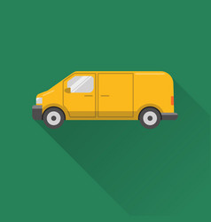 flat style minivan car icon vector image vector image