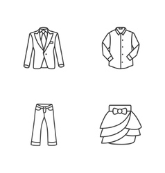 four modern clothes icons vector image vector image