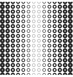 halftone rings seamless pattern black and white vector image vector image