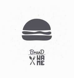 Hand drawn silhouette of burger vector