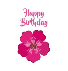 Happy birthday celebration poster floral vector