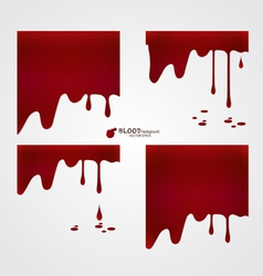 Happy Halloween design banners Blood dripping vector image vector image