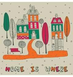 Home seamless background vector image vector image