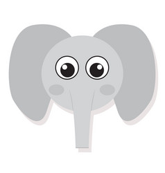Isolated elefant face vector