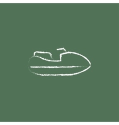 Jet scooter icon drawn in chalk vector