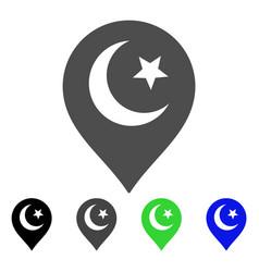 muslim symbol marker flat icon vector image