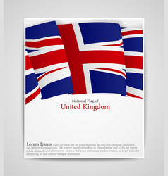 National flag brochure of united kingdom vector