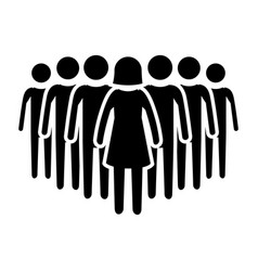 Pictogram people icon vector