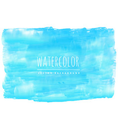 real blue watercolor stain background vector image vector image