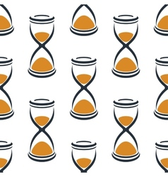 Retro cartoon hourglasses seamless pattern vector image vector image