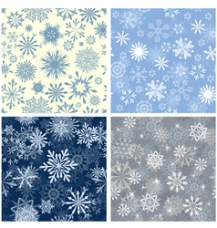 snowflakes seamless set vector image vector image