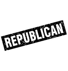 square grunge black republican stamp vector image vector image