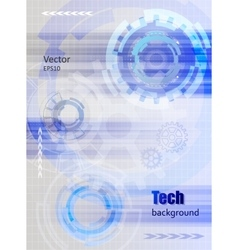 Technology background with gear wheel and rays vector image