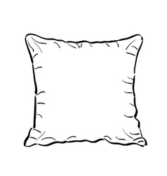 Throw pillow sketch vector