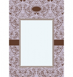 vector purple ornate frame3 vector image vector image