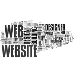 web design how important is the designer text vector image vector image