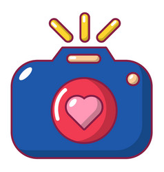 Wedding photography icon cartoon style vector