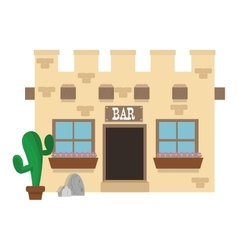 Old west bar icon vector