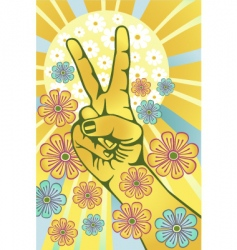 flower power vector image