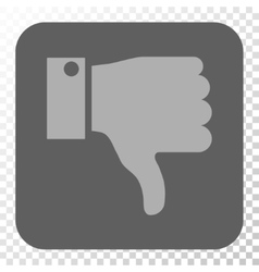 Thumb down rounded square button vector