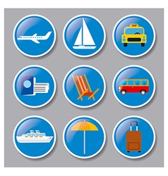 set of icons travel concept vector image