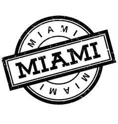 Miami rubber stamp vector