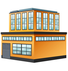 Two storey building painted in yellow vector