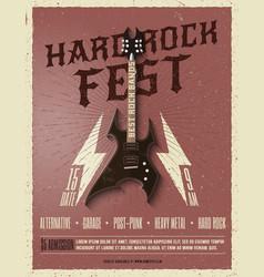 Hard rock music festival flyer poster vector