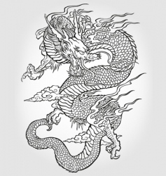 asian dragon illustration vector image