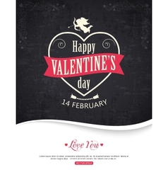 Valentines day typographical background with place vector