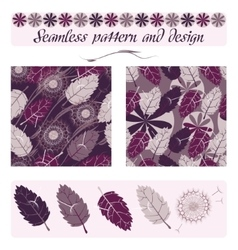 Seamless pattern and design vector