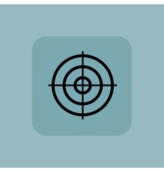 Pale blue aim icon vector