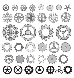 Steampunk collection machine gear wheel cogwheel vector