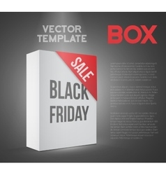 Black friday sale white carton box template vector