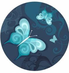 Butterfly night vector