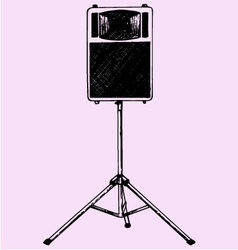 Audio speaker stand vector