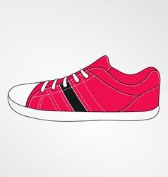 Pink sneakers vector image