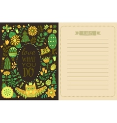 Save the date greeting card forest theme vector