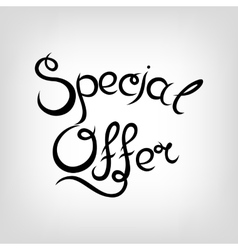 Hand-drawn lettering special offer vector