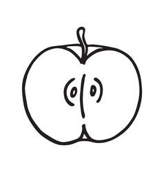 Apple icon Outlined vector image