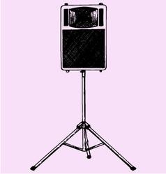 Audio speaker stand vector