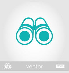 Binoculars outline icon summer marine vector