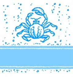 card with crab vector image vector image